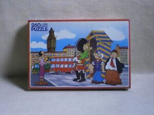 """"""" POPEYE IN ENGLAND """" OLIVE SWEE PEA WIMPY MISB NEW MADE IN GREECE PUZZLE MIKA"""