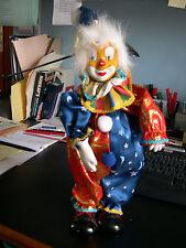 """Clown musical chapeau pointu, Haut. 38cm, musique """" lettre à Elise """""""