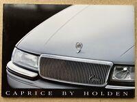 1990 Holden Caprice original Australian sales brochure (18P)