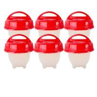 3/6Pcs Silicone Egg Cooker Cup Maker Hard Boil Egg Mold Kitchen Divider Kit Tool