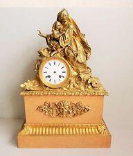♕ Sehr feine Bronze Pendule Empire Biedermeier Kaminuhr