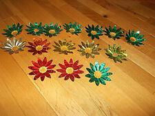 15Pc. Lot Antique Foil Multi-Colors Christmas Tree Light Reflectors~Lot#10