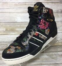 Adidas Sz 15 Attitude Hi Big Sean Hip Hop Sneakers Floral Snakeskin Gold Black