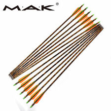 """6Pcs Camouflage 30"""" Aluminum Archery Dia 8.8mm for Compound Bow Hunting arrows"""