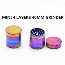 4 Piece Hot Colourful 40mm Herb/Spice/Weed Alloy Smoke Crusher Tobacco Grinder