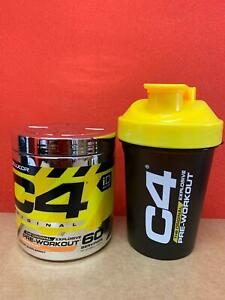 Cellucor C4 Original Pre Workout Powder ENERGY ID 60 Servings + FREE SHAKER CUP