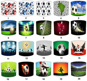 Football Soccer Lampshades To Match Wallpaper Wall Decals Bedding Curtains Duvet