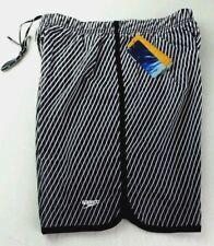 Speedo Men's Aqua Volley Jammer Swim Shorts Trunks Board Short Large Black White