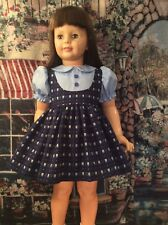 """Doll Clothes For 36"""" Patti Playpal """"Blue Jumper Dress"""" By Maureen"""