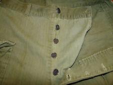 Vintage pant  WWII  USMC  US Militaria HBT  Herringbone 13 Star Buttons Sz 31x32