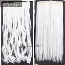 100% Natural Hair Clip in Hair Extensions 1 Pieces Full Head Long As Human HG09
