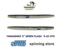 """GARY YAMAMOTO 5"""" YAMASENKO 9-10-975 GREEN FLASH  10 PZ"""