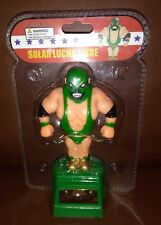 Solar Power Dancing Toys Lucha Libre Green  Mexican Wrestler Man Bobble Head