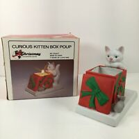 VTG House Of Llyod Curious Kitten Box Candle Holder- Christmas Around The World