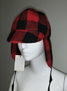 Gucci UNISEX Red Tartan Winter Fashion Hat New With Tags 100% Genuine