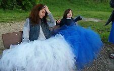 long floor length tulle tutu photography jrs birthday skirt small med large xl