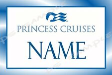 4x6 CUSTOMIZED Magnetic Name Tag for Cruise Stateroom Door PRINCESS CRUISE LINE