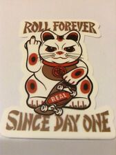 Pegatina/sticker/autocollant : Gato/ Cat/ Roll Forever Since Day/ Real