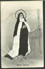 Postal de Santa Teresa bordada andachtsbild santino holy card santini