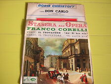 45 GIRI BORIS CHRISTOFF DON CARLO ++FRANCO CORELLI IL TROVATORE GABRIELLA TUCCI