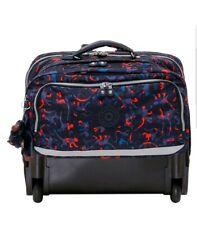 Kipling Topanga camo blue red mix wheeled backpack trolley cabin bag Rrp£158