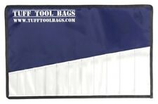 TUFF TOOL BAGS SPANNER ROLL 12 SLOT FOR TRADESMEN HEAVY DUTY BLUE/SILVER