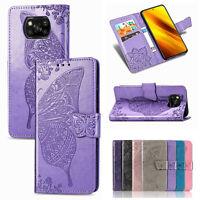 Für Xiaomi Poco X3 NFC Handy Tasche Schutz Hülle Butterfly Flip Case Wallet Etui