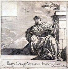 PAULUS CALIARY VERONENSIS INVENT & PINXIT 1682 Valentin Lefebre ANTIQUE ETCHING