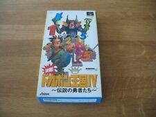 SNES Super Famicom game - Dokapon Land IV 4 (boxed NTSC Japanese)