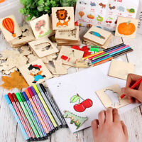 AM_ HD_ Kids Drawing Template Boards Wooden Graffiti Interactive Educational Toy