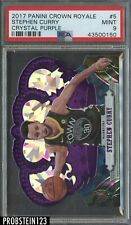 2017-18 Panini Crown Royale Purple Crystal Stephen Curry Warriors 01/25 PSA 9
