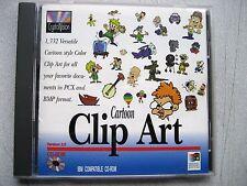 VERY Slightly Used Clip Art Cartoon CD-ROM 1,332 clips by CrystalVision, WINDOWS