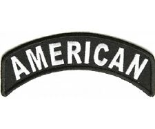 "AMERICAN Top Rocker 4"" x 1.5"" iron on patch (2740) Biker Patches"