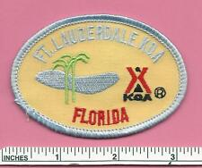Ft Lauderdale Florida FL State of FLA Kampgrounds Of America KOA Camping Patch