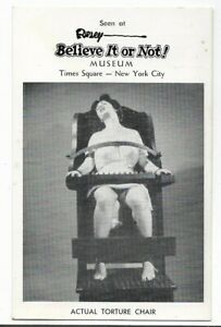 B&W,RIPLEY BELIEVE IT OR NOT! MUSEUM~ACTUAL TORTURE CHAIR~TIMES SQUARE,NYC,NY