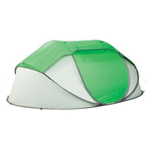 Coleman Popup Tent 4 Person Polyester Taffeta Instant Shelter Water Resistant