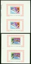 Guinea-Bissau 1979 miniature sheets in PROOF PAIRS