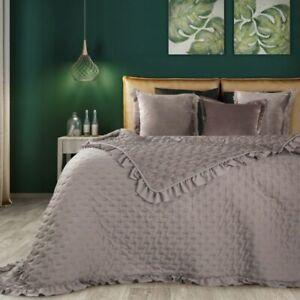 Tagesdecke Bettüberwurf Überwurf Überdecke Steppdecke Blau Rosa Silber Grün Weiß