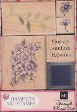 Gwenyth Floral Set-Hampton Art en caja Set Madera Montada sellos de goma