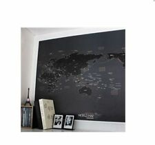 Knock Black World Map Draw your Dreams around The World Travel Plan_V