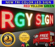 "12"" x 63"" Led Sign Tri Color PC USB Programmable Neon Text Open Shop RGY Board"