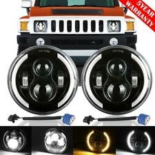 "2x 7"" inch 200W LED Headlight Halo Angel Eye DRL Lamp for Hummer H1 H2 2002-2009"