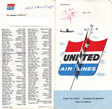 Ticket Booklet for United Airlines for Flight from Portland to Chicago, 1956