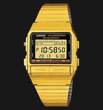 Casio Digital Fashion Watch Data Bank Vintage Gold Mens Db-380g-1d