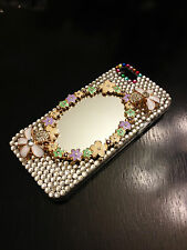 New For iPhone 5S SE Case Luxury Crystal Diamond Flower Cover with Real Mirror