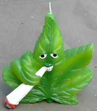 Cannabis Marijuana Leaf & Joint Candle Spliff Reefer