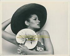 Vanessa del Rio Collectible Photo Hat-Fan  8x10 RARE! 1975 Sign After BUY w/COA