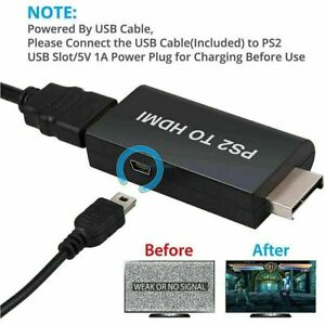 auf HDMI Video Konverter Adapter Audio Output PlayStation 2 zu HDMI TV 3,5MM PS2
