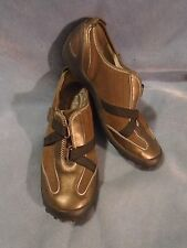 Women's Privo by Clarks Bronze & Brown Leather Slip-On Sneakers Size 7 1/2 M