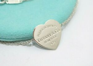Tiffany & Co. Sterling Silver Return To Tiffany Heart Tag Double Chain Necklace